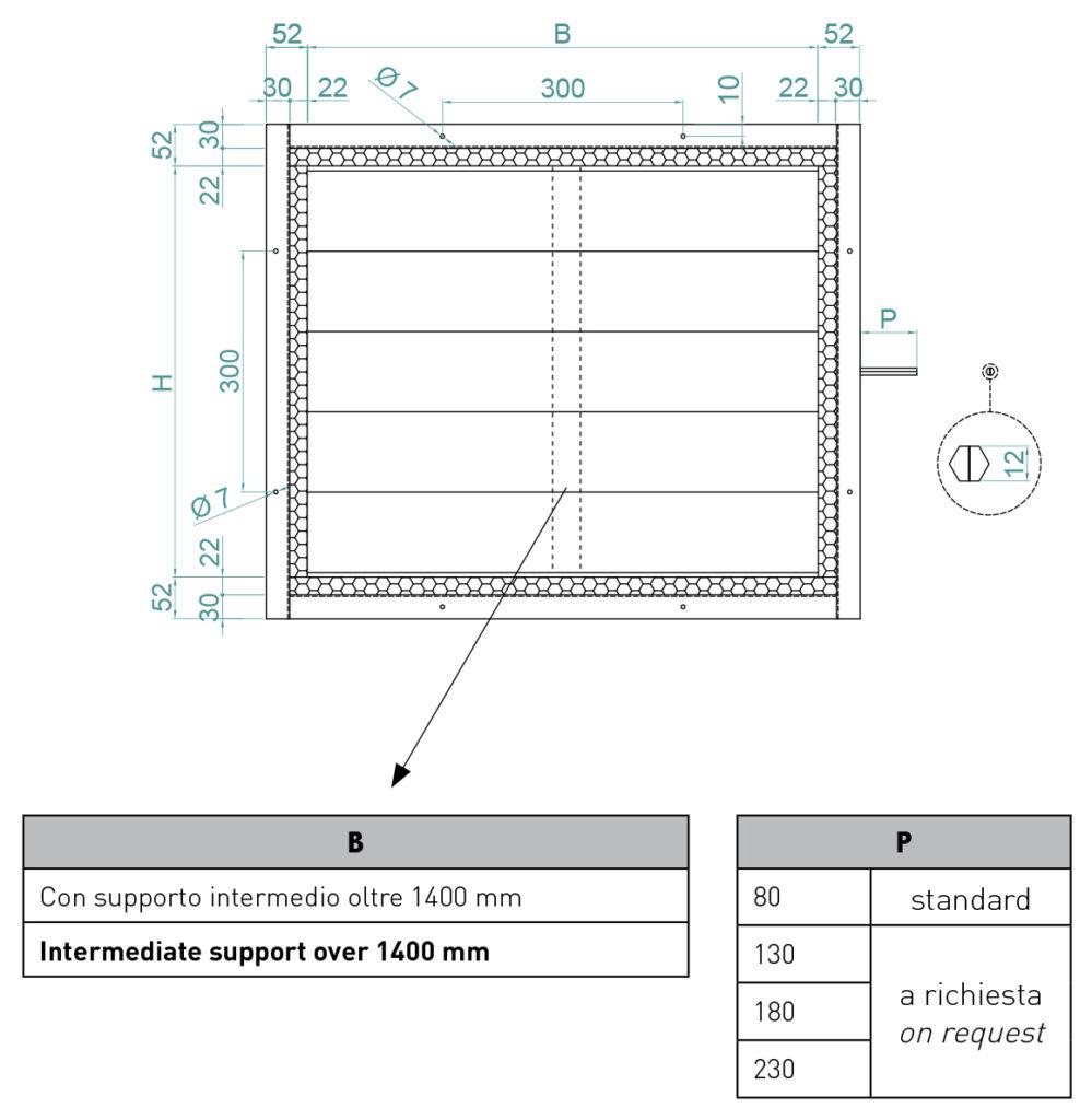 Serrande Isolate Serie SER 100 con leverismi DT 1-1