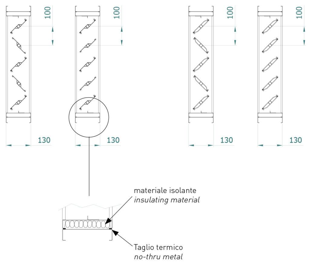 Serrande Isolate Serie SER 100 con leverismi DT 2-1